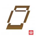 Střešní výlez plastový | 45x73 cm (450x730 mm) | bílý s hnědým oplechováním | SKYLIGHT