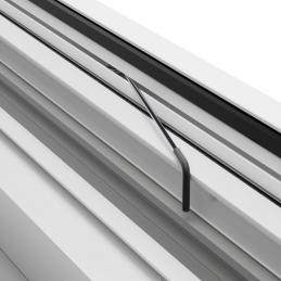 Hliníková okenní síť proti hmyzu, 100x120 cm, bílá