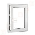 Plastové okno 100 x 150 cm, bílé, otevíravé i sklopné, pravé, 6 komor