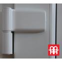 Plastové dveře 90 x 205 cm (900 x 2050 mm) bílé