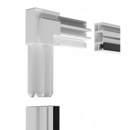 Hliníková dveřní síť proti hmyzu, 100x215 cm, bílá