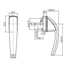 Klika Roto Swing | s tlačítkem | bílá