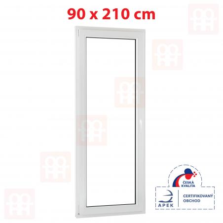 Plastové dveře   90 x 210 cm (900 x 2100 mm)   bílé   balkónové   otevíravé i sklopné   levé   5 komor