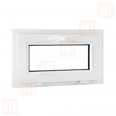 Plastové okno | 101x60 cm (1010x600 mm) | bílé | sklopné | 6 komor | VEKA