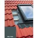 Lemování pro střešní okno 55x78 cm, ŠEDÁ RAL 7043, profilovaná krytina