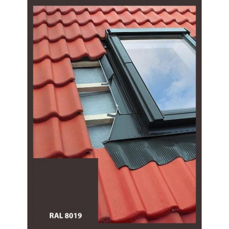 Lemování pro střešní okno | 78x118 cm (780x1180 mm) | hnědé | pro profilovanou krytinu