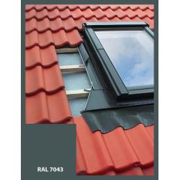 Lemování pro střešní okno 78x98 cm, ŠEDÁ RAL 7043, profilovaná krytina
