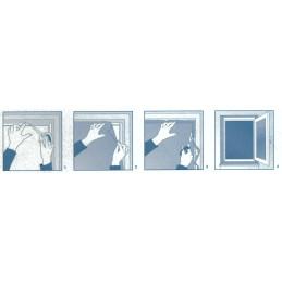 Okenní síť proti hmyzu univerzální, 100 x 100 cm, černá