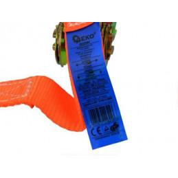 Popruh upínací s ráčnou a hákem|kurtna|4m| 1T|25mm