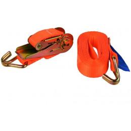 Popruh upínací s ráčnou a hákem|kurtna|5m| 1T|25mm