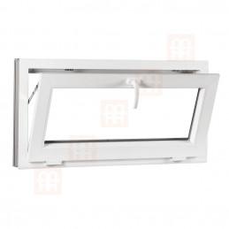 Sklopné plastové okno 60x42 cm, bílé, 6 komor