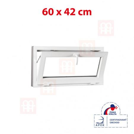 Plastové okno | 60x42 cm (600x420 mm) | bílé | sklopné