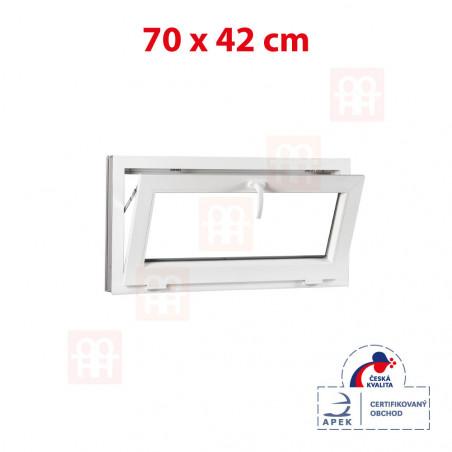 Plastové okno | 70x42 cm (700x420 mm) | bílé | sklopné