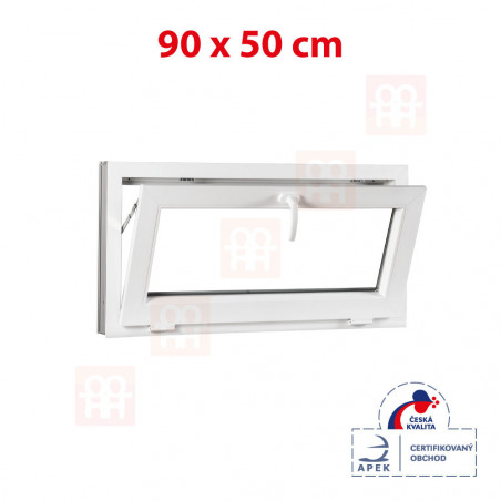 Plastové okno | 90x50 cm (900x500 mm) | bílé | sklopné