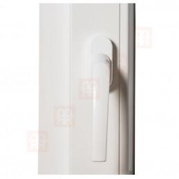 Sklopné plastové okno 100x50 cm, bílé, 6 komor