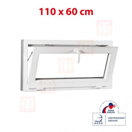 Plastové okno | 110x60 cm (1100x600 mm) | bílé | sklopné