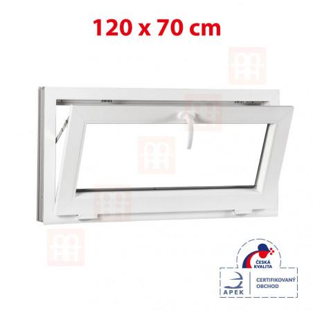 Plastové okno | 120x70 cm (1200x700 mm) | bílé | sklopné
