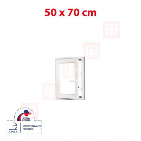 Plastové okno | 50x70 cm (500x700 mm) | bílé | otevíravé i sklopné | levé