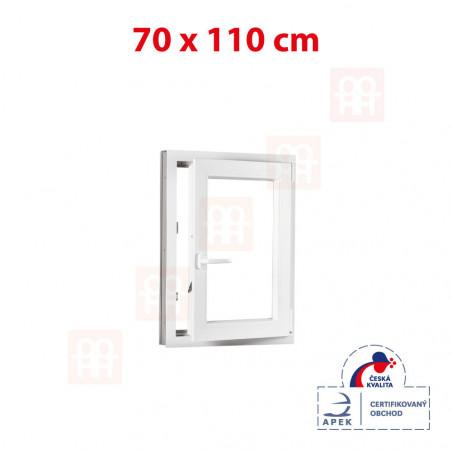 Plastové okno | 70 x 110 cm (700 x 1100 mm) | bílé | otevíravé i sklopné | pravé