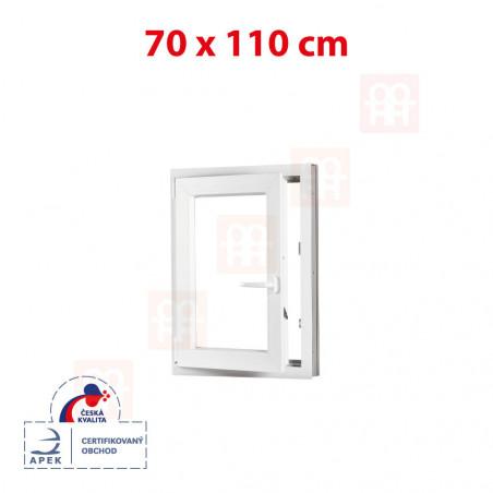 Plastové okno | 70x110 cm (700x1100 mm) | bílé | otevíravé i sklopné | levé