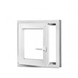 Plastové okno 90x90 cm, bílé, otevíravé i sklopné, levé, 6 komor