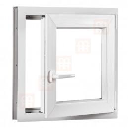 Plastové okno 90 x 90 cm, bílé, otevíravé i sklopné, pravé, 6 komor