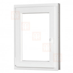 Plastové okno 90x110 cm, bílé, otevíravé i sklopné, levé, 6 komor