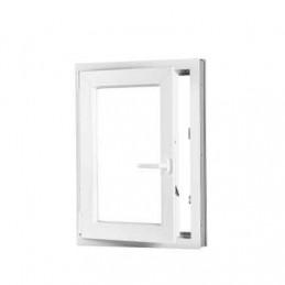 Plastové okno 100x120 cm, bílé, otevíravé i sklopné, levé, 6 komor