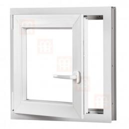 Plastové okno 80x80 cm, bílé, otevíravé i sklopné, levé, 6 komor