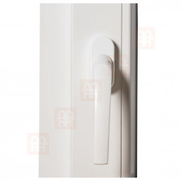 Dvoukřídlé plastové okno 140x140 cm, bílé, bez sloupku (štulp), pravé
