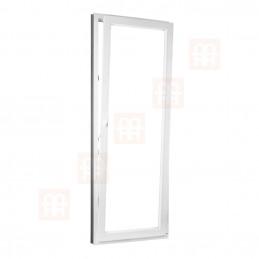 Plastové balkónové dveře 90 x 210 cm, otevíravé i sklopné, pravé