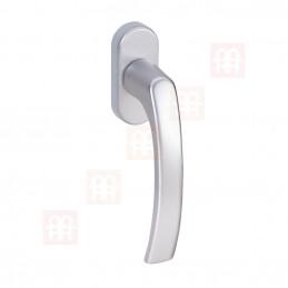 Hliníková okenní klika | stříbrná
