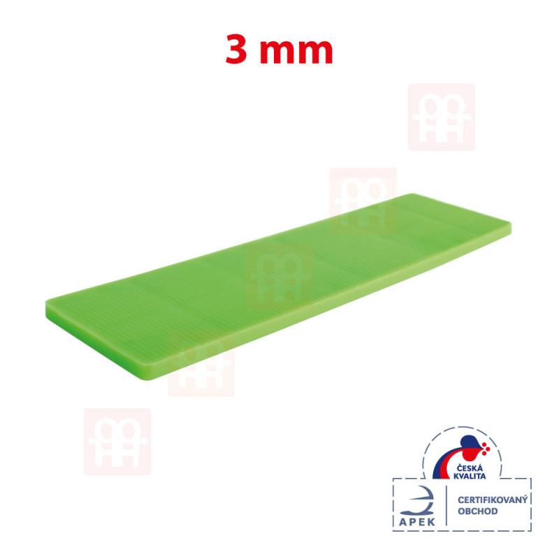 Vymezovací plastová podložka 28 x 100 x 3 mm