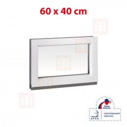 Plastové okno | 60x40 cm (600x400 mm) | bílé | fixní