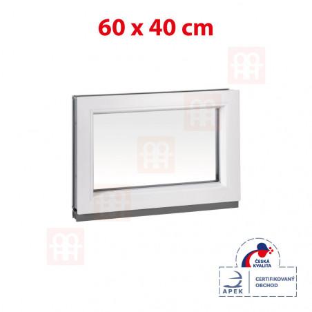 Plastové okno | 60x40 cm (600x400 mm) | bílé | fixní (neotvíravé)