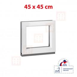 Plastové okno | 45x45 cm (450x450 mm) | bílé | fixní (neotvíravé)
