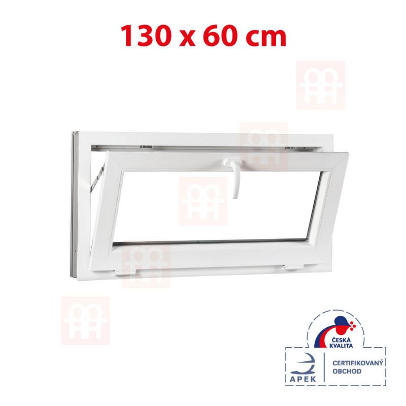 Plastové okno   140x60 cm (1400x600 mm)   bílé   sklopné