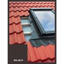 Lemování pro střešní okno 78x98 cm, hnědá RAL 8019, profilovaná krytina