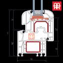 Plastové okno 80x120 cm, bílé, otevíravé i sklopné, levé, 6 komor