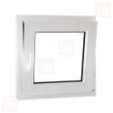 Plastové okno 100 x 100 cm, bílé, otevíravé i sklopné, pravé, 6 komor