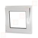 Plastové okno 100x100 cm, bílé, otevíravé i sklopné, levé, 6 komor
