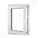 Plastové okno 60x100 cm, bílé, otevíravé i sklopné, levé, 6 komor