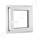 Plastové okno 70 x 70 cm, bílé, otevíravé i sklopné, pravé, 6 komor