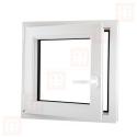 Plastové okno 70x70 cm, bílé, otevíravé i sklopné, levé, 6 komor
