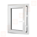 Plastové okno 70x90 cm, bílé, otevíravé i sklopné, levé, 6 komor