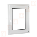 Plastové okno 70 x 90 cm, bílé, otevíravé i sklopné, pravé, 6 komor