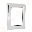 Plastové okno 70 x 110 cm, bílé, otevíravé i sklopné, pravé, 6 komor