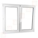 Dvoukřídlé plastové okno 130x130 cm, bílé, bez sloupku (štulp), pravé