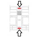 Spojovací profil pérový pro okna a dveře